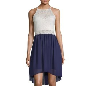 NWT Lace By&By Navy Dress